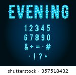 neon casino or broadway signs... | Shutterstock .eps vector #357518432