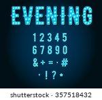 neon casino or broadway signs... | Shutterstock .eps vector #357518432