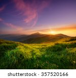 mountain valley during sunrise. ...   Shutterstock . vector #357520166