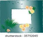 vector photo frame with hibiscus | Shutterstock .eps vector #35752045