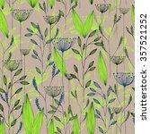 vector grass seamless pattern.... | Shutterstock .eps vector #357521252