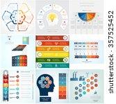 set 9 templates infographics... | Shutterstock .eps vector #357525452