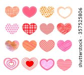 set of valentine love hearts. | Shutterstock .eps vector #357525806