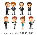 business people in actions.... | Shutterstock .eps vector #357531236