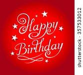 happy birthday typography on... | Shutterstock .eps vector #357533012