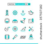 nautical  sailing  sea animals  ... | Shutterstock .eps vector #357537182