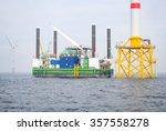 wind farm offshore energy... | Shutterstock . vector #357558278