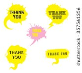 vector set of comic speech... | Shutterstock .eps vector #357561356