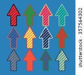 colored arrows template set....