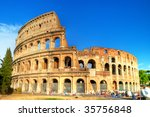 colosseum  great symbol of...   Shutterstock . vector #35756848