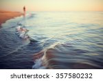 beach sunset abstract background shoreline close up stylized
