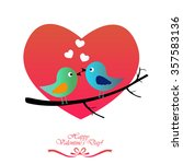happy valentine's day.  | Shutterstock .eps vector #357583136