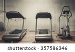 treadmills exercise machines... | Shutterstock . vector #357586346