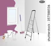 house remodel illustration ... | Shutterstock .eps vector #357588536