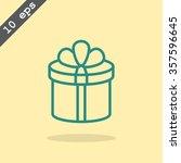 gift box icon | Shutterstock .eps vector #357596645