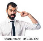 businessman making crazy gesture | Shutterstock . vector #357603122