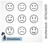 vector black simple emotions... | Shutterstock .eps vector #357613055
