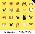 dog faces icon cartoon | Shutterstock .eps vector #357628556