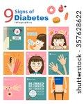 cartoon diabetic infographics ... | Shutterstock .eps vector #357628622