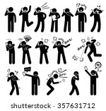 people expressions feelings... | Shutterstock .eps vector #357631712