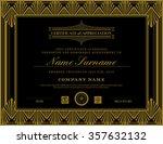 vintage retro art deco frame... | Shutterstock .eps vector #357632132