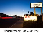 generic motel sign in the dusk... | Shutterstock . vector #357634892