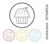 cake line icon | Shutterstock .eps vector #357638516