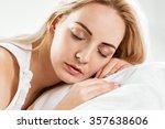 sleeping portrait of beautiful... | Shutterstock . vector #357638606