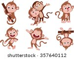 the years of monkeys set.vector ... | Shutterstock .eps vector #357640112