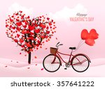 valentine's day background with ... | Shutterstock .eps vector #357641222