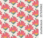 Daisy Gerber Flowers Seamless...