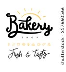 logo or label for bakery and... | Shutterstock .eps vector #357660566