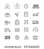 logistic vector icons. line... | Shutterstock .eps vector #357660602