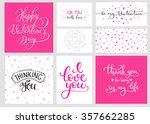 romantic valentines day... | Shutterstock .eps vector #357662285