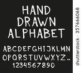 alphabet. hand drawn letters... | Shutterstock .eps vector #357666068