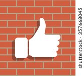 thumb up icon  vector... | Shutterstock .eps vector #357668045