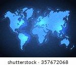 pixel world map with spot lights | Shutterstock . vector #357672068