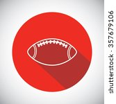 rugby ball icon  | Shutterstock .eps vector #357679106