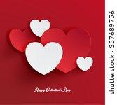 heart shape valentine's day... | Shutterstock .eps vector #357689756