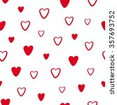 seamless pattern with red... | Shutterstock .eps vector #357693752