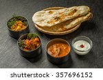 typical indian curry set | Shutterstock . vector #357696152