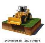 3d illustration of soil cutaway....   Shutterstock . vector #357699896
