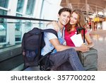 couple traveling together  | Shutterstock . vector #357700202