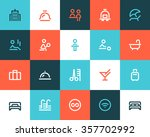 hotel service icons. flat style | Shutterstock .eps vector #357702992