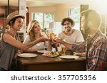 friends in their 30s having a... | Shutterstock . vector #357705356