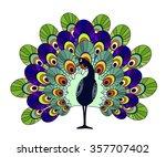 peacock | Shutterstock .eps vector #357707402