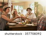 friends in their 30's having a... | Shutterstock . vector #357708392