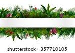 tropical foliage. floral design ... | Shutterstock .eps vector #357710105