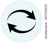reload    black vector icon | Shutterstock .eps vector #357721472