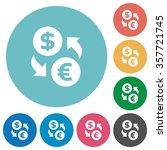flat dollar euro exchange icon... | Shutterstock .eps vector #357721745